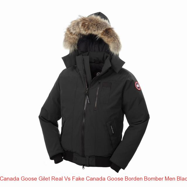 Canada Goose Gilet Real Vs Fake Canada Goose Borden Bomber Men Black 7968m