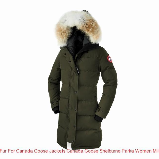 Canada Goose Shelburne Parka with Coyote Fur Military Green