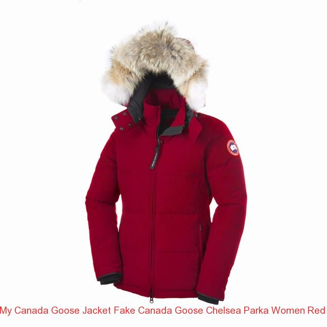 156bb86ea73 My Canada Goose Jacket Fake CANADA GOOSE CHELSEA PARKA WOMEN Red 3804L